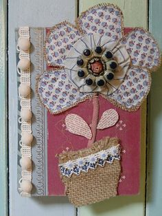 recycled book art. cute to do for Lilly's art journal