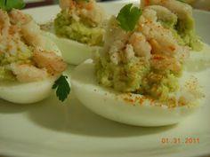 Crab and Avocado Deviled Eggs
