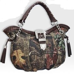 Amazon.com: Coffee Large Women Purse Handbag Camo Camouflage Mossy Oak Belt Buckle: Everything Else