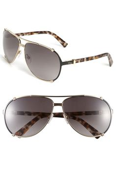 Dior 'Chicago' 63mm Metal Aviator Sunglasses   Nordstrom