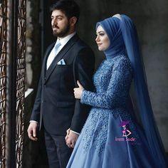 Görüntünün olası içeriği: 2 kişi, ayakta duran ins Muslimah Wedding Dress, Muslim Wedding Dresses, Blue Wedding Dresses, Wedding Blue, Blue Bridesmaids, Blue Bridesmaid Dresses, Wedding Bridesmaids, Couple Wedding Dress, Wedding Couples
