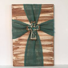christian housewarming gift burlap cross housewarming gift turquoise and lace - Wooden Cross Frame