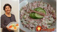 Nesmrteľný Å¡alát Rumcajs: lepÅ¡Ã Å¡alát jsem za celà © roky nejedla, přesně takto si ho pamätámz lahÃ'dok v naÅ¡em městě! Slovak Recipes, New Menu, What To Cook, Pickles, Asparagus, Sushi, Salads, Food And Drink, Appetizers