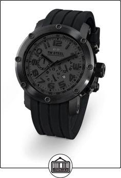 Tw Steel TW128 - Reloj con correa de caucho para hombre, color negro / gris de  ✿ Relojes para hombre - (Gama media/alta) ✿