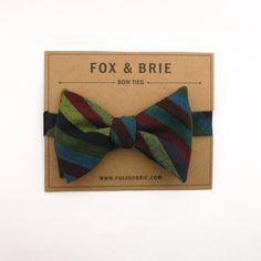 jewel stripe bow tie.