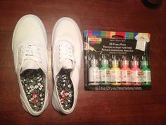 Scribbles Paint Tennis Shoes DIY--190.84.86.133 | iLoveToCreate