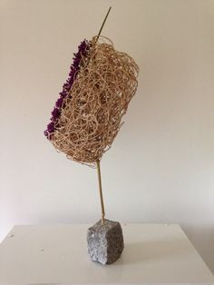 Wicker processend into an object and finished with callicarpa,Rita Nagelkerke