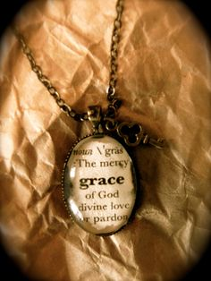 Definition Word Necklace GRACE by ClipClipHooray on Etsy, $15.00