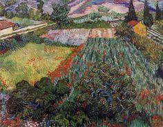 Vincent Van Gogh, Champ de pavots, 1890, painting