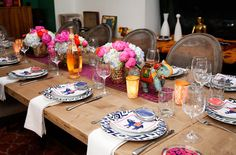 Fashion designer Rebecca Minkoff opens her East Village apartment to ELLE during an Indian-themed dinner party.