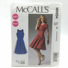 62765f9c893 Details about 7351 McCalls Womens Plus Size Shirtwaist Dress Sz 14 22 Uncut  Sewing Pattern
