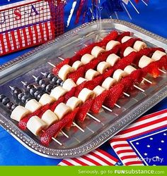 July Fruit Kabobs Idea food of july july 4 july fourth of july july food july decor july recipes july fourth july crafts july 4 party ideas july decorations july fourth desserts 4th Of July Desserts, Fourth Of July Food, 4th Of July Party, Patriotic Party, Fourth Of July Recipes, 4th Of July Camping, Patriotic Desserts, 4th Of July Food Sides, 4th Of July Ideas