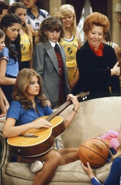 """The Facts of Life "" got their start on ""Different Strokes"". Pictured: Lisa Whelchel, Charlotte Rae & Dana Plato"