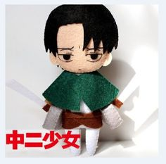 Attack on Titan Rivaille Levi Shingeki no Kyojin Cosplay DIY toy Doll material B $17.10