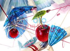#기초디자인#종이우산#우산#체리#털실#화면구성#이오비상#입시미술#미대입시#실기#이오비상미술학원#기초디자인완성작
