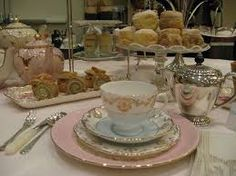Resultado de imagen de table laid for afternoon tea party