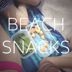 I used to PIG OUT at the beach! Chips, cookies, pizza, ice cream - you know the routine.  Today I packed some leftover sugar snap peas, cantaloup, baby carrots with hummus, apples and lots of water! (Hey! The beach makes me hungry!) Totally feel amazing and totally saved some $$$!