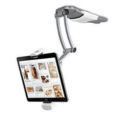 Tablets Kitchen Mount Stand from CTA Digital. This mount features a secure, adjustable holder designed for in. screen tablets between 6 in. iPad Air/iPad Mini/Surface Pro 4 and 7 in. Ipad Air, Tablet Mount, Ipad Tablet, Ipad Mount, Tablet Holder, Tablet Stand, Support Ipad, Digital Tablet, Cool Stuff