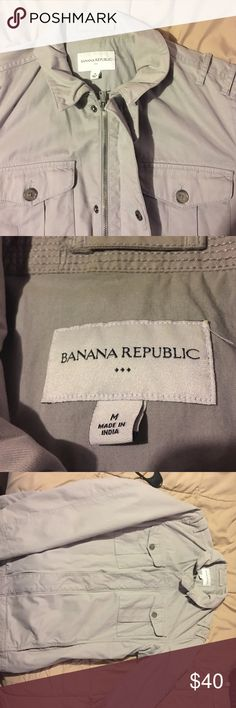 Banana Republic Men's Jacket This is a like new in excellent condition! Size Medium. Looks amazing and classy! Perfect for Christmas! Banana Republic Jackets & Coats Lightweight & Shirt Jackets
