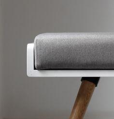 New Bench/ stool in Gray Linen