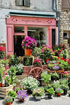 flower shop - I love the use of the space outside the store - perfect for the summer time in #newbrunswick