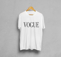 Vogue Tshirt White Unisex Graphic T shirt White Tee
