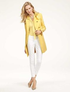 From The Limited. Love the trench, especially the color!