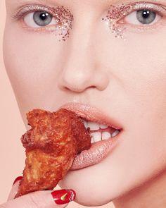 Glitter & Caviar: um editorial de beleza para comer com os olhos