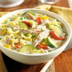 Creamy Farmhouse Chicken and Garden Soup CLICK for 20 Slow Cooker Recipes