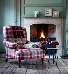 John Lewis Modern Restoration... an update for our monster tartan wing chairs.