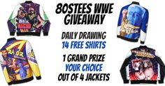 Win a WWE Wrestling Jacket or Daily Prizes of T-Shirts {WW}... IFTTT reddit giveaways freebies contests