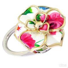[4 Choices]   Handbag Table Hook Purse Hanger Folding Foldup Holder   Beautiful Colorful Floral Design