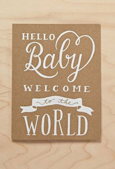 Sugar Paper Hello Baby Card | Forever 21 - 1000114812
