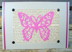 Pink Butterfly - handmade card FWB any occasion recycled materials birthday card greeting card cards for women get well soon AUD) by RogueKissedCraft Pink Butterfly, Butterflies, Get Well Soon, Valentine Day Cards, Recycled Materials, Etsy Store, Birthday Cards, Recycling, My Etsy Shop