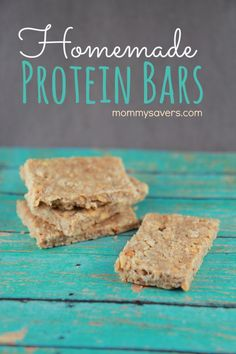 Homemade Protein Bars - Easy, no-bake and just 5 ingredients; could add ingredients for more flavor