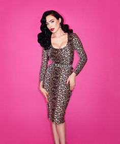 IN-STOCK - Wild Vintage Leopard Vixen Troublemaker Dress by Vixen by Micheline Pitt