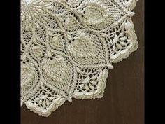 Алла Чикалова - YouTube Crochet Rug Patterns, Crochet Mandala Pattern, Crochet Diagram, Weaving Patterns, Baby Knitting Patterns, Dress Patterns, Crochet Carpet, Crochet Home, Russian Crochet