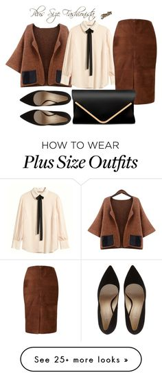"""""""Plus Size Fashionista"""" by theblushingbeauty on Polyvore featuring H&M and Viyella"""