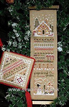 69 - Gingerbread Garden Sampler Chart Leaflet by Victoria Sampler