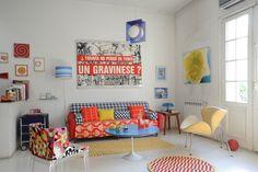 Estilismo:Ana Markarian,Fotos: Pompi Gutnisky. Couch, Furniture, Home Decor, Houses, Pictures, Settee, Decoration Home, Sofa, Room Decor