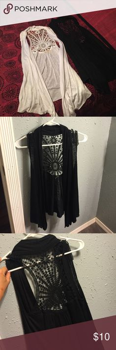 Lot of 2 cardigans. Never worn. Lot of 2. Tops