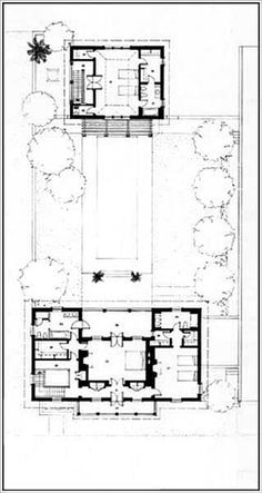 New House on the Navesink River Cottage Floor Plans, Small House Plans, House Floor Plans, Windsor Village, Resort Plan, New Urbanism, Vintage House Plans, Luxury House Plans, Interior Garden