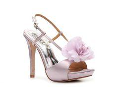 Badgley Mischka Zabrina Platform Sandal | DSW I like this flower but dislike how stripy these are