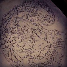 #irezumi #japanesetattoo #koitattoo #design #drawing #tattoo #부천 #인천 #부천역 #타투 #타투몬스터  진행할 작업 도안 디자인!
