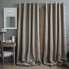 Pure Linen Lined Curtain for door during winter Door Curtains, Lined Curtains, Curtain Inspiration, Window Dressings, Bedroom Colors, Soft Furnishings, Window Treatments, Windows, Doors