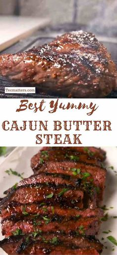 Super Yummy Cajun Butter Steak This steak recipe will have your mouth watering for more. From the chefs at Delish, comes this hot yummy Cajun Butter steak the whole family will enjoy. Skirt Steak Recipes, Steak Marinade Recipes, Easy Steak Recipes, Grilled Steak Recipes, Cajun Recipes, Healthy Diet Recipes, Healthy Meal Prep, Grilling Recipes, Meat Recipes