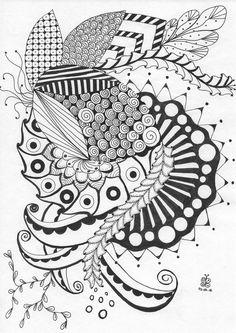 Coloriage zendoodle zentangle