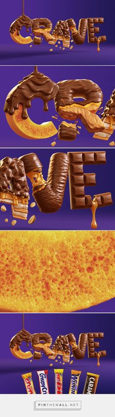Cadbury CRAVE on Behance - created via https://pinthemall.net