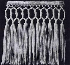 Beading Fringe Pattern | Crochet Patterns Crochet Fringe, Crochet Scarves, Crochet Clothes, Crochet Lace, Crochet Stitches, Crochet Edgings, Crochet Boarders, Crochet Blocks, Vintage Crochet Patterns