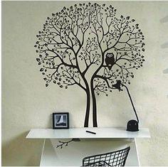 Трафареты на стену дерево - DecorSticker.ru